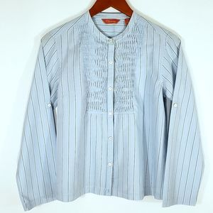 Tommy Bahama Blue Pin Striped Top Size S/P